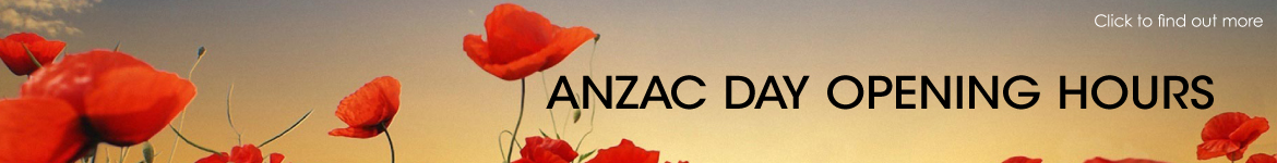 ANZAC Day Long Weekend Display Centre Opening Hours
