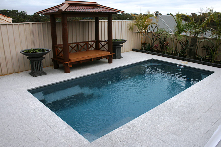 Small fibreglass swimming pools perth aqua technics for Kitchen ideas 5m x 3m