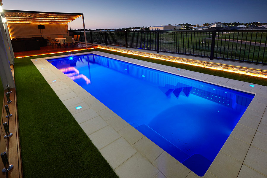 Milan lap pool perth 10m x 3m aqua technics for Pool design hours